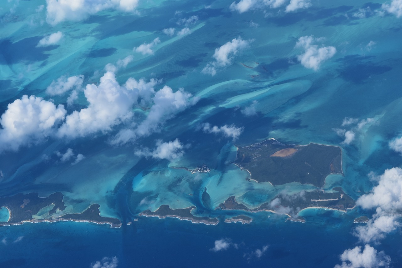 Bahama's view from plane