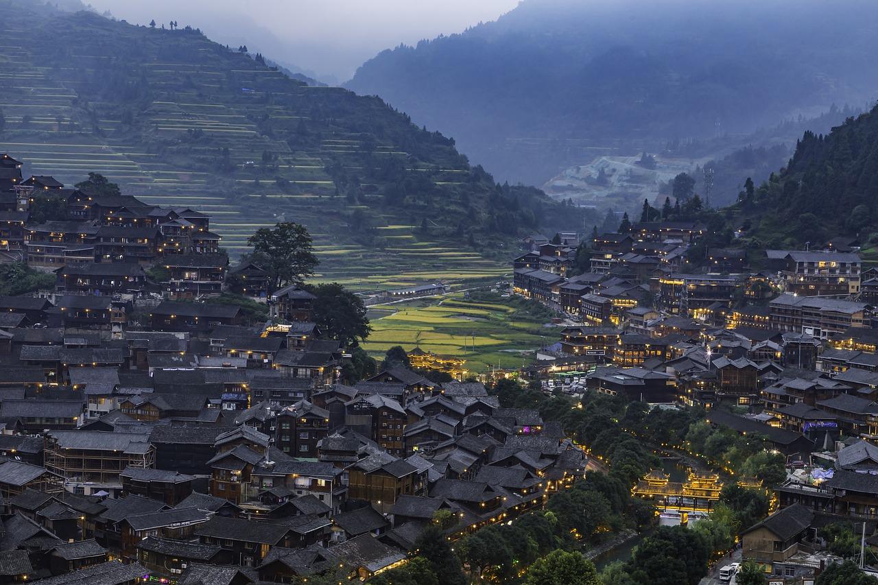Ansicht der chinesischen Stadt