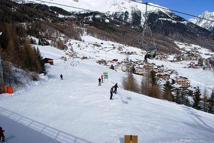 Dalafdaling Solden Oostenrijk sneeuw