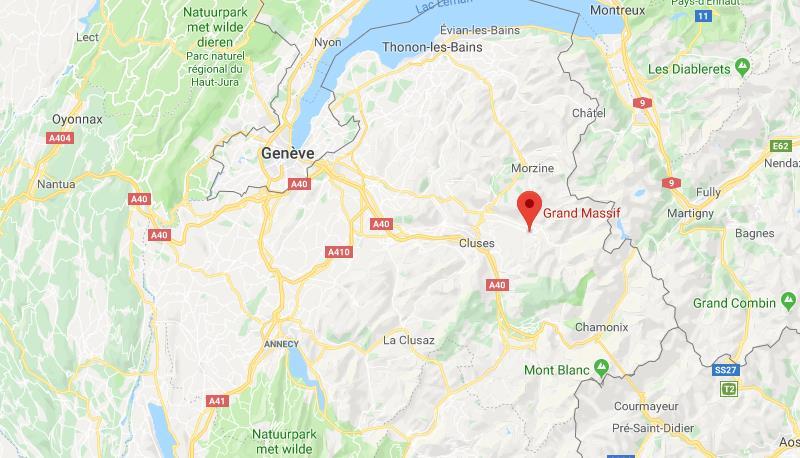 Le Grand massif Frankrijk op kaart Google Maps