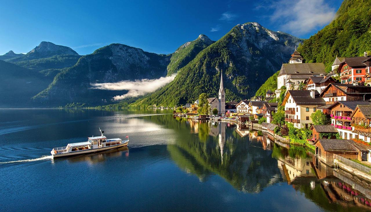 Uitzicht Hallstat Oostenrijk