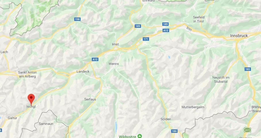 Ischgl Oostenrijk op de kaart Google Maps