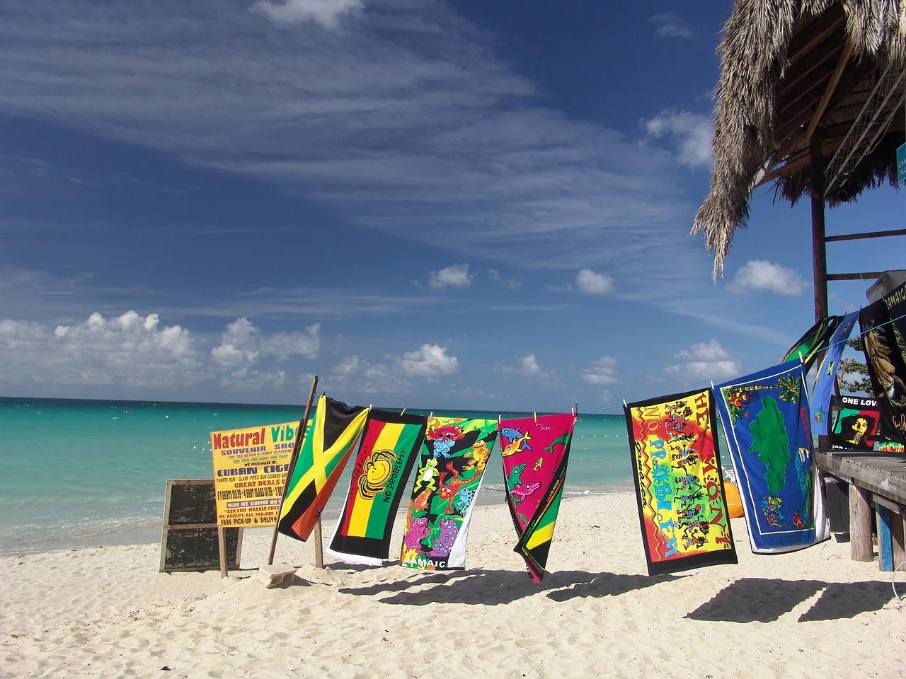 Jamaika-Ansicht von Strand und Meer