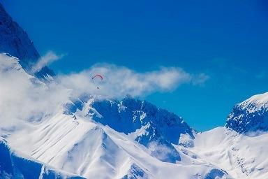 Les Deux Alpes Frankrijk bergen met sneeuw