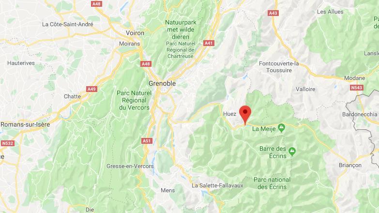 Les Deux Alpes Frankrijk op de kaart Google Maps