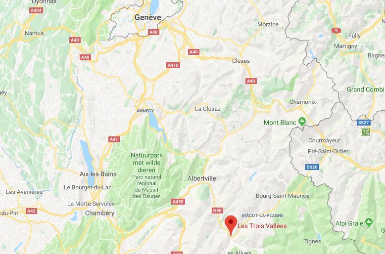 Les Tois Vallees op de kaart Google Maps