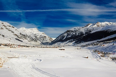Livigno Italie uitzicht sneeuw bergen