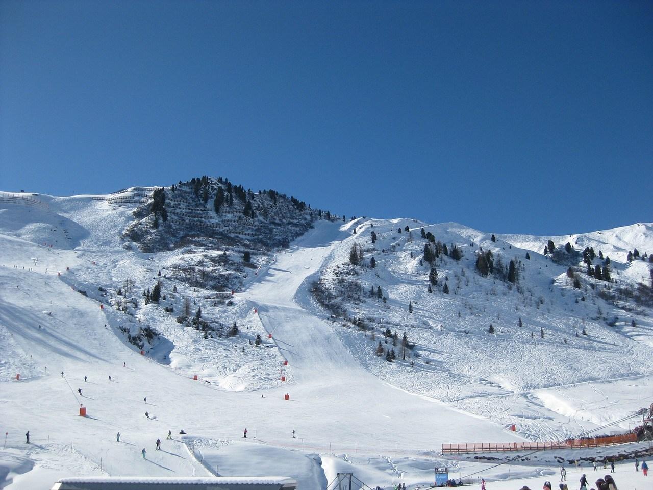 Uitzicht pistes Mayrhofen Oostenrijk wintersport