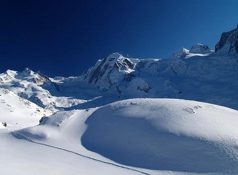 Monte Rosa Italie bergen sneeuw