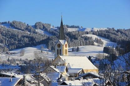 Oberstaufen Duitsland in de sneeuw