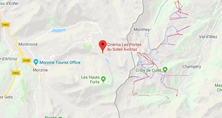 Portes du Soleil Frankrijk op kaart Google Maps