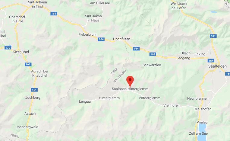 Locatie Saalback Hinterglemm Google Maps