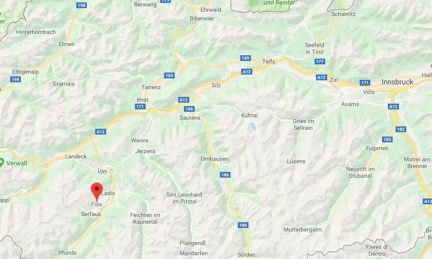 Serfaus-Fiss-Ladis locatie Google maps