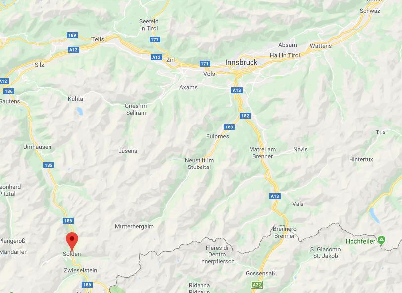 Solden Oostenrijk op de kaart Google Maps