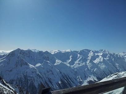 bergtoppen Solden Oostenrijk sneeuw