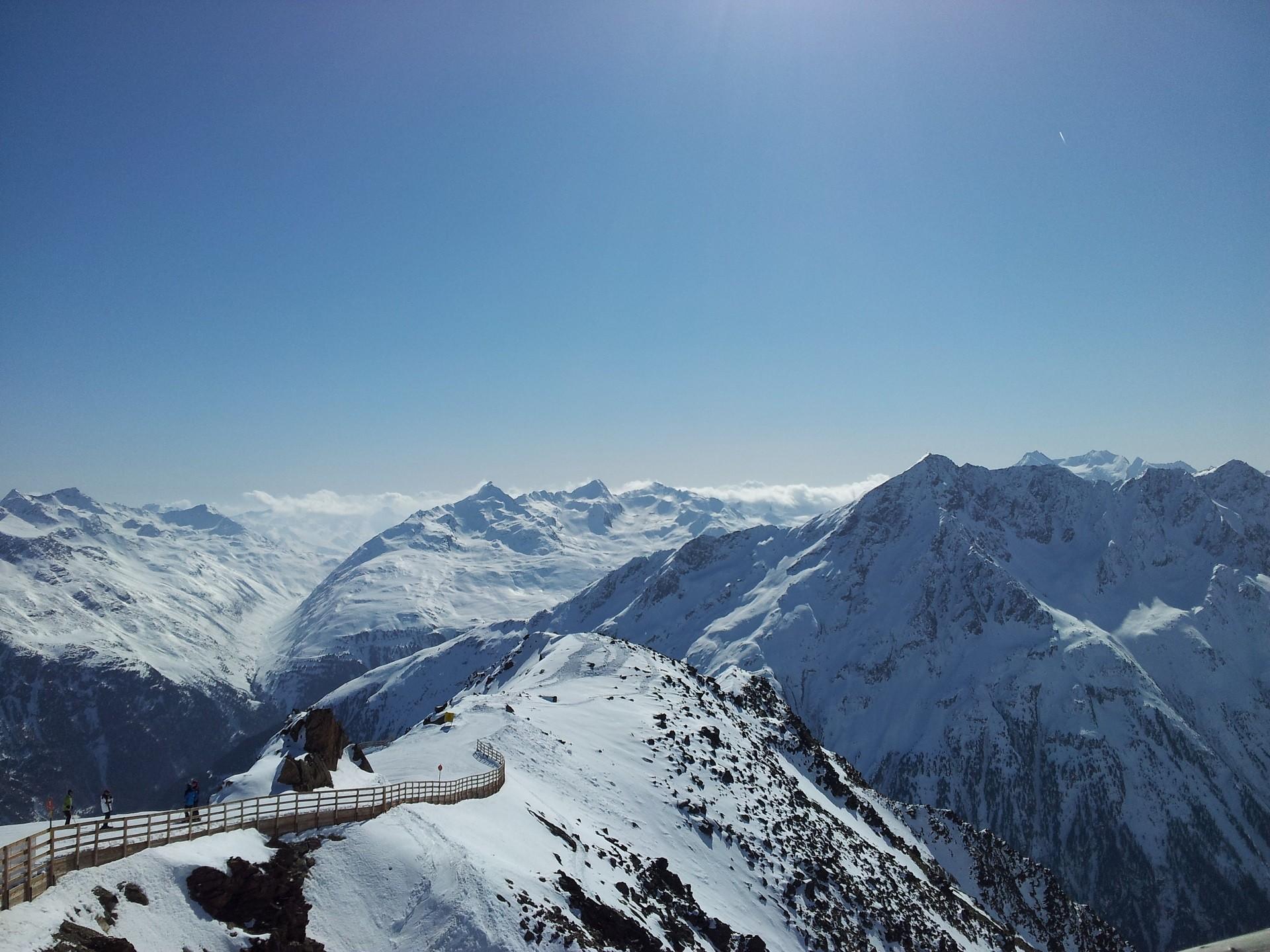 Wintersport Österreich Berge Schnee