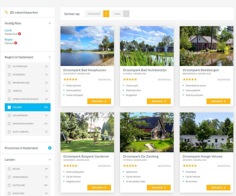 Vakantieparken vergelijken