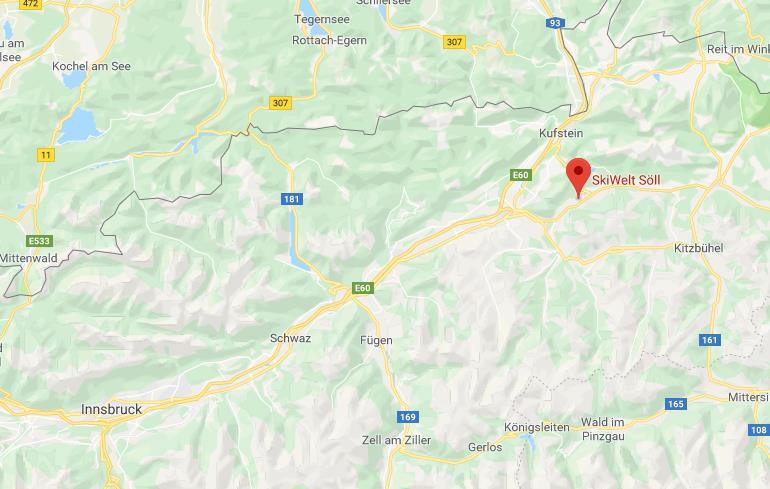 Wilder Kaiser Brixental Google Maps locatie