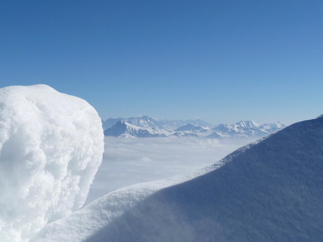 Wilder Kaiser-Brixental uitzicht bergen sneeuw