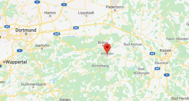 Willingen Duitsland op kaart Google Maps