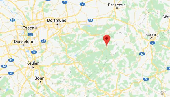 Winterberg op de kaart Google Maps