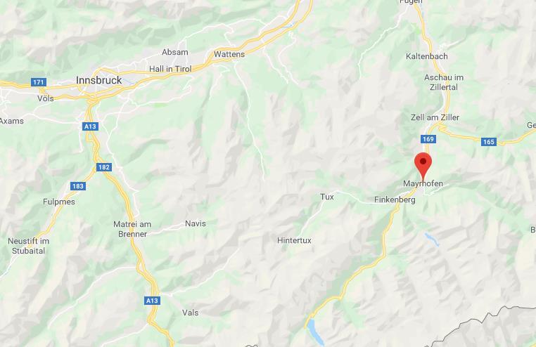 Ligging Zillertal 3000 Google maps