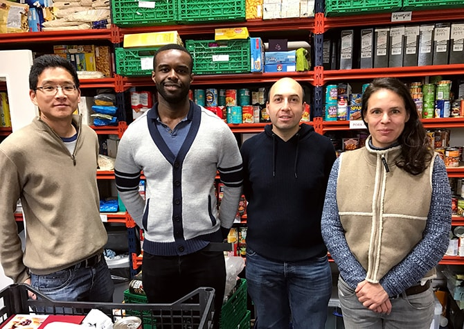 Andy at Vauxhall food bank