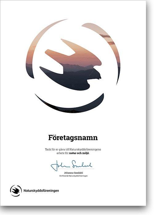 Företagsgåva diplom